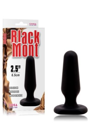 Chisa Black Mont Silicone Plug Small - 2,5 Inch - 6 Cm - Cn-491446012