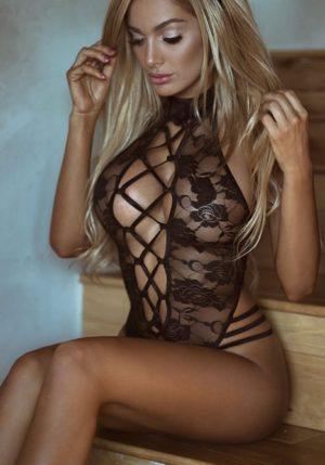 Body Pleasure - Super Strakke - Sexy Lingerie Set - Uitdagend - One Size - Zwart - Cadeaubox - TL10
