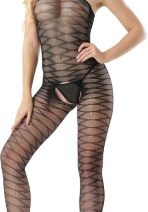 Body Pleasure - Super Strak - Sexy Lingerie Set - Uitdagende Body - Zwart - One Size - Cadeaubox - Tl24