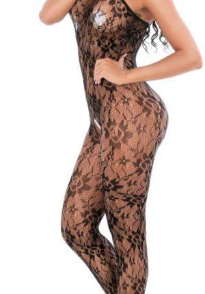 Body Pleasure - Super Strak - Sexy Lingerie Set - Uitdagende Body - Zwart - One Size Fits Most - Cadeaubox - Tl25