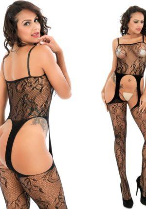 Body Pleasure - Super Strak - Sexy Lingerie Set - Uitdagende Body - Zwart - One Size Fits Most - Cadeaubox - Tl28