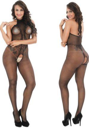 Body Pleasure - Super Strak - Sexy Lingerie Set - Uitdagende Body - Zwart - One Size - Cadeaubox - Tl32