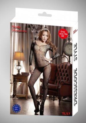 Body Pleasure - Super Strak - Sexy Lingerie - Bodystocking - One Size - Cadeaubox - Tl57