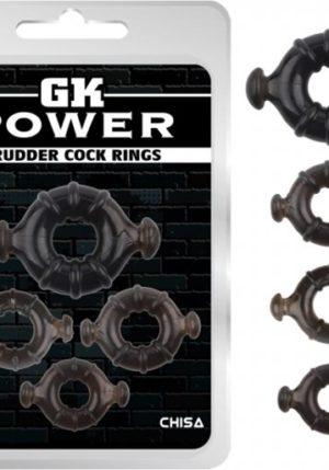 Chisa GK Power Rudder 4 Pack Cockring - Cn-370332163
